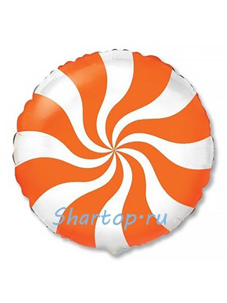 """Фольгированный шар """"Леденец оранжевый"""" 46 см"""