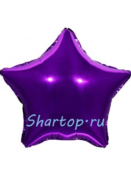 """Фольгированный шар звезда """"Темно-Фиолетовая"""" 46 см."""