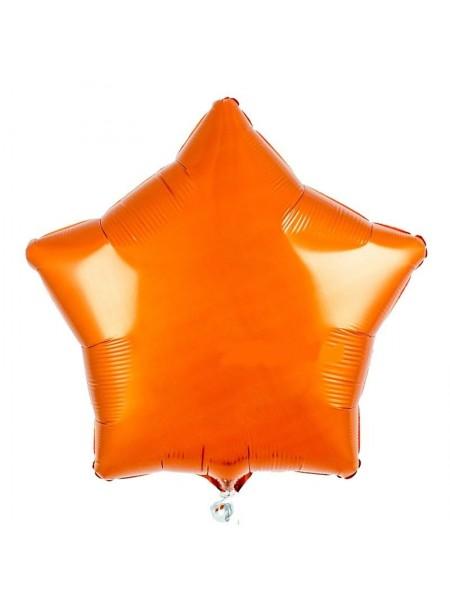 """Фольгированный шар звезда """"Оранжевая"""""""
