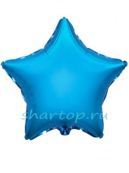 """Фольгированная звезда """"Голубая"""" 46 см"""