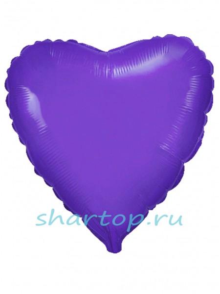 """Фольгированное Сердце """"Фиолетовое"""""""