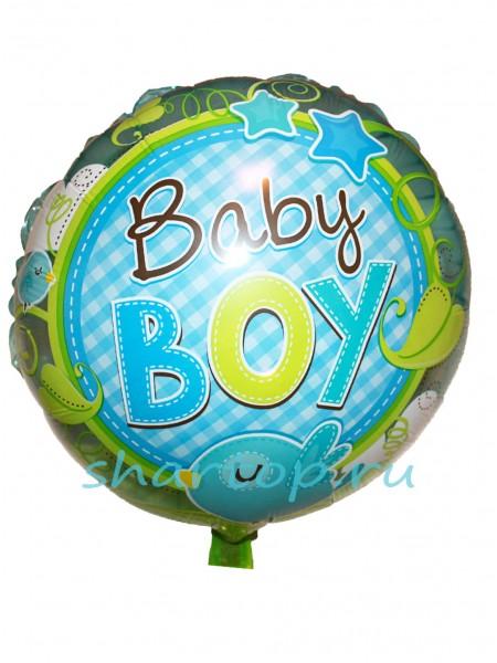 """Фольгированный шар круг """"Baby Boy"""""""