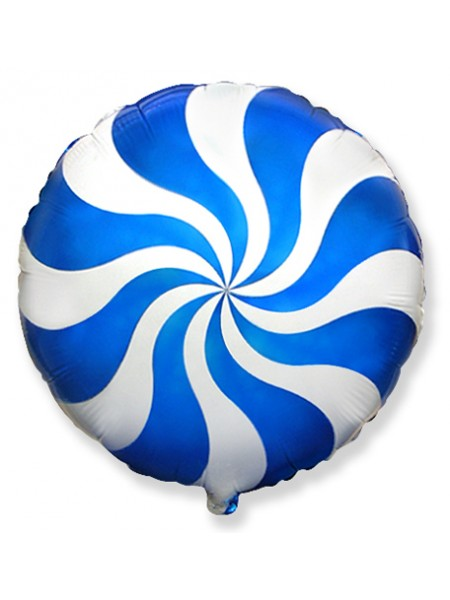 """Фольгированный шар """"Леденец синий"""" 46 см"""